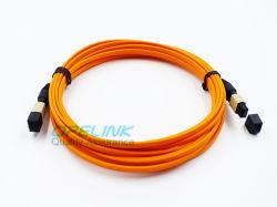 El MTP multimodo/MPO de fibra óptica Cable de cinta plana latiguillo
