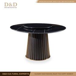 Mesa redonda con modernos de madera mármol para Muebles de Comedor