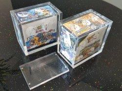 Nouveau design Yageli Lucite plexiglas Pokemon Pack Organisateur transparent en acrylique Etb Pokemon Booster Case Cas