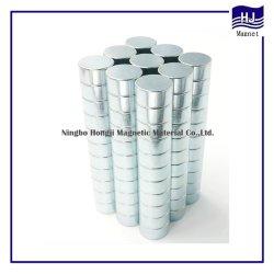 El cilindro tira larga el imán de neodimio NdFeB Zinc con alta calidad