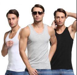 習慣95%の綿の人か女性または女性は袖なしのスポーツの試しか適性または体操のベストのワイシャツ、上のタンクトップのボディービルをやる衣類を冷却する