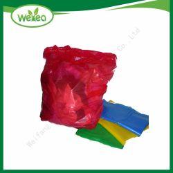 La fábrica China de plástico alimentación Pack colorida bolsa de basura biodegradables de basura