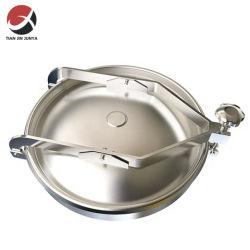 Professional Fabricant316L en acier inoxydable AISI 400mm plaque d'égout Non-Pressless ronde avec le côté Swing utilisés dans le réservoir d'ouverture des pièces