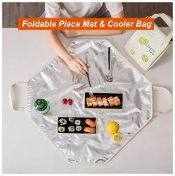 다기능 알루미늄 호일 Placemat & 더 차가운 부대 테이블 매트 점심 부대 픽크닉 부대 매트 Placemat