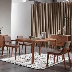 Горячие продажи очень просто обеденный стол из шпона и цельная древесина для выбрали