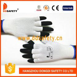 Indicador de 13 de la mitad de nylon blanco dedo de guante de seguridad