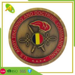 Fabricante China Maker Calidad suprema de metal personalizados artesanales decorativos de la policía de moneda de plata esterlina desafío para la promoción /Moneda de oro antiguo emblema (163)