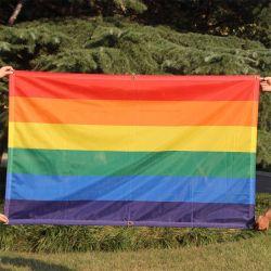 도매 플라잉 3X5FT 폴리에스테르 빅 레인보우 LGBT 레즈비언 게이 프라이드 깃발 무지개 깃발
