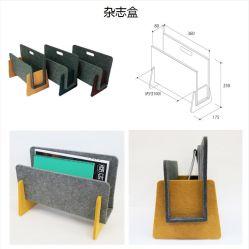 Ruisan - qualité de titulaire de la fibre de polyester Magazine - Magazine Rack - plancher ou de la table - Panier avec poignées - grand support pour table à café, table latérale