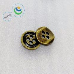 11,5 mm de 4 agujeros de la pulverización de pintura/Resina de poliester de coser de aleación de botón para accesorios de prendas de vestir