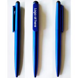 Шариковым пером с резиновую рукоятку и нажмите стилусом, Promotioal подарок сенсорный экран шариковым пером