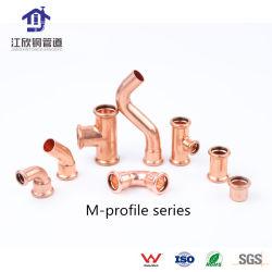 Couplage de cuivre coude réducteur de raccord en t Appuyez sur les eaux sanitaires du raccord de tuyau
