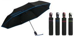 3 Section pongés Solid Color Auto parapluie ouvert
