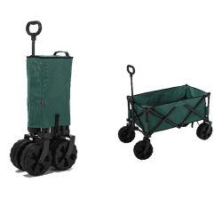 حقيبة تسوق ذات طية عالية على شكل عربة شاطئ مطوية بالجملة مع العجلات