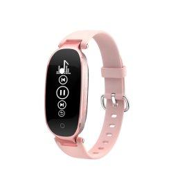 GPSの追跡者機能腕時計が付いている血圧のモニタOLEDのスマートな腕時計の携帯電話が付いている携帯用腕時計の電話