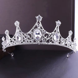 La mode mariée bijoux de cristal de luxe de sangle d'Ornements cheveux Bijoux de la Couronne