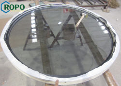 Fenêtres rondes UPVC/PVC, avec vitre fixe de design en verre Dtempered