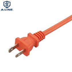 普及した使用された米国標準NEMA1-15pの交流電力の延長コード