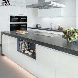 Muebles de cocina alemana en forma de L MDF lacadas armarios de cocina