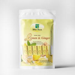 A cidade ganha uma qualidade superior Instant Limão e chá de gengibre