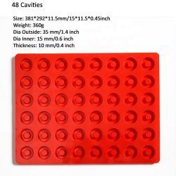 Anillos de color rojo molde de silicona molde de tarta de chocolate haciendo