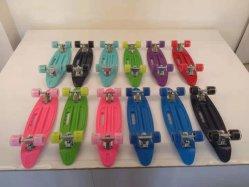 "New Wholesale Custom Fingerboard Mini Toy Finger Skateboard/22/24"" Classic Plastic Mini Cruiser compleet skateboard"