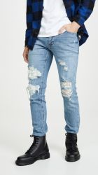 Новый стиль джинсы мальчика голубой джинсы для мужчин Ripped джинсы Китай заводской марки оптовых повседневный Джинсовые брюки