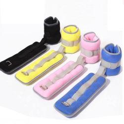 Venda por grosso de logotipo personalizado em neoprene ajustável de ferro de tecido de enchimento de areia do tornozelo e pesos de punho