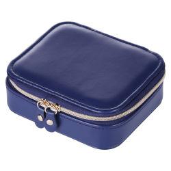 Caixa de jóias de tamanho médio Embalagem Zip Caixa de oferta Senhoras Soft PU Acessórios Inicial