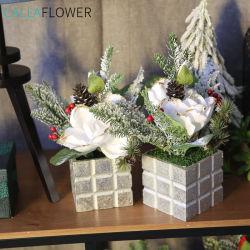 Magnolia Denudata combinaison artificielle Bonsai pour Noël Décoration de mariage GF15825