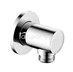 Salle de bain Douche circulaire en laiton le connecteur de flexible G 1/2 Handshower coude de sortie d'alimentation murale de la tuyère d'eau