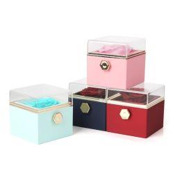 A vida eterna Flower Caixa de oferta de São Valentim Surpresa Anel Caixa de jóias Colar pendente na caixa de embalagem, Spot mercadorias quatro cores TAMPA DE ACRILICO Floreira