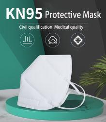 Qualité respirante Non-Woven anti-poussière jetables/vent/sable/filtre à suie/P2,5/N95/KN95/FFP1/FFP2 visage/Masque Respirateur avec valve de protection