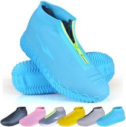 Многоразовый складные Not-Slip Бахилы дождя с молнией, защитные накладки колодки Galoshes Overshoes датчика дождя и освещенности для взрослых мужчин и женщин