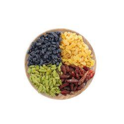 安い価格の卸し売りドライフルーツの干しぶどうの黒いですか緑か金か赤いカラー