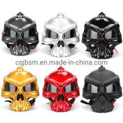 Cqjb Skull Open half Face Vintage beschermende verkeersveiligheid Motor Motor zomer zonnescherm ademend ABS Racing Volwassen gezicht Helm