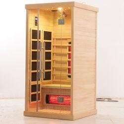 La stanza di legno di sauna del nuovo Hemlock di Infrared lontano per 4 genti si distende la terapia Kl-4SA