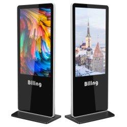 All in one PC Display Pubblicità Kiosk 43 pollici Super Supporto da pavimento sottile lettore di segnaletica digitale Prezzo di visualizzazione LED pubblicitario Lettore di annunci