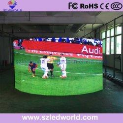 Affichage LED programmable Rideau avec forme incurvée de l'écran sur la scène