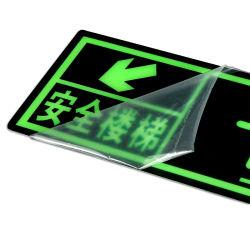 Производитель пользовательские алюминиевых акриловый светового аварийного выхода предупредительный знак