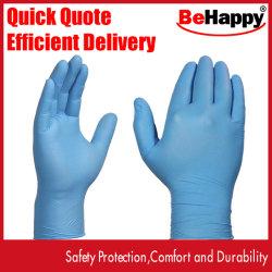 Fd de nitrilo guantes desechables, Fundiscount recuento de 100 libre de látex sin polvo Guantes de examen médico no estériles ambidiestros cómodo azul Rubbe Industrial