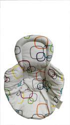Cojín Bebé cochecito de bebé de algodón, camisa Pram cabeza y el soporte del cuerpo almohada transpirable suave almohadilla del asiento infantil para el recién nacido
