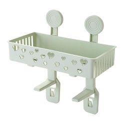 DIY Drill-Free пластиковый лоток для душа корзины держатель для ванной комнаты Организация