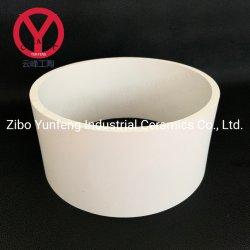 絶縁体のための白く、アイボリー耐久力のある陶磁器の92アルミナの管