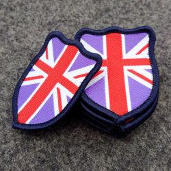 Personalizados personalizados UK Vestuário tecido feito de ferro Patch sobre patches para a escola de vestuário