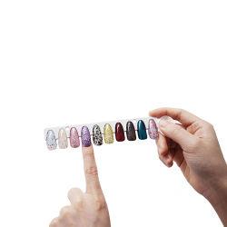 못 디자인 전시 책을 보여주는 못 예술 공구 색깔 젤 못 예술 폴란드인 120 색깔 도표 카드