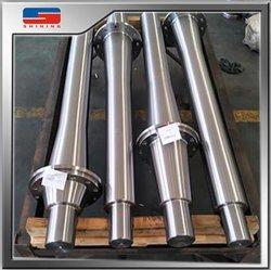 Eixo de precisão de usinagem CNC personalizado S45C Eixo de aço forjado