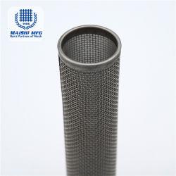 Doble capa de malla de alambre tejido tubo Filtro de acero inoxidable