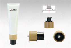 D35mm Tapa de bambú contenedor de envases cosméticos tubo biodegradables