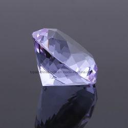 facetten die van het Punt van de Kleuren van de Diamant van de Grootte van 2060mm ontruimen de Grote Multi Buitensporige Achter Glanzende om de Stenen van het Kristal van het Glas snijden los Bergkristallen (Pb-Lt. Amethist)